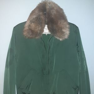 TRafaluc Zara olive green bomber jacket
